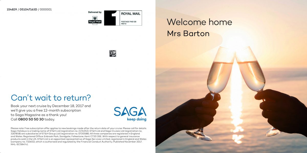 Saga's Welcome Home Campaign